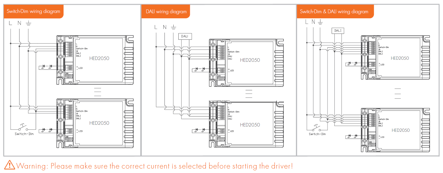 HED2050-A] – Constant Current DALI LED Driver (1*50W ... on